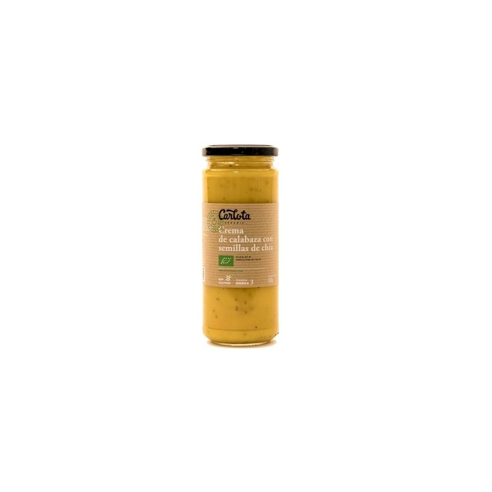 Crema de Calabaza con semillas de Chía 450 g. - Carlota - tienda vegana online