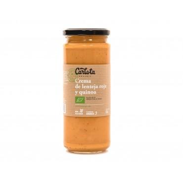 Crema de Lenteja Roja y Quinoa 450 g. - Carlota - tienda vegana online