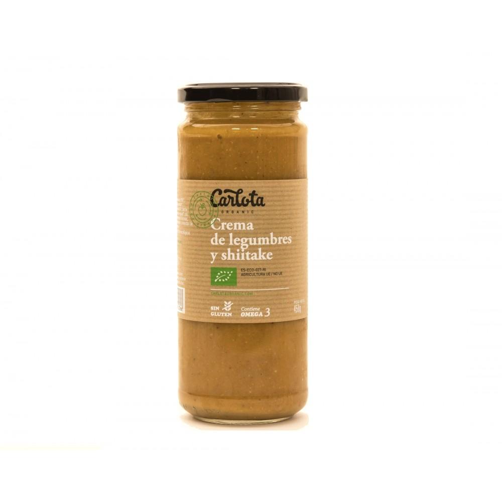 Crema de Legumbres y Shiitake 450 g. - Carlota - tienda vegana online