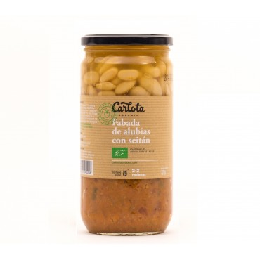 Fabada de alubias con seitán 720 g. - Carlota - tienda vegana online