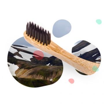 Cepillo Dental Bambú Carbón - Nordics - tienda vegana online