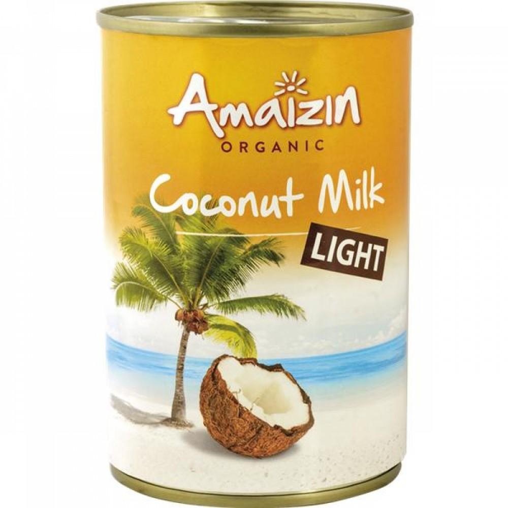 Leche de Coco Light 400 ml. - Amaizin  - tienda vegana online