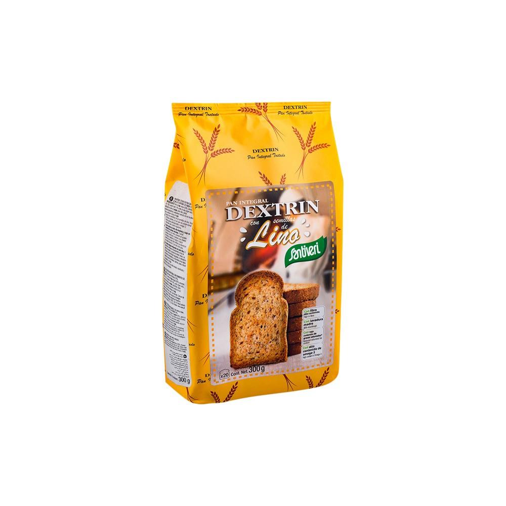 Pan Dextrín con Lino 300 g. - Santiveri - tienda vegana online