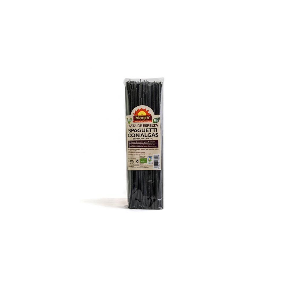 Spaguetti de Espelta con Algas 250 g. - Biográ - tienda vegana online
