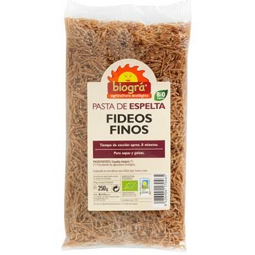 Fideos finos de Espelta 250 g. - Biográ - tienda vegana online