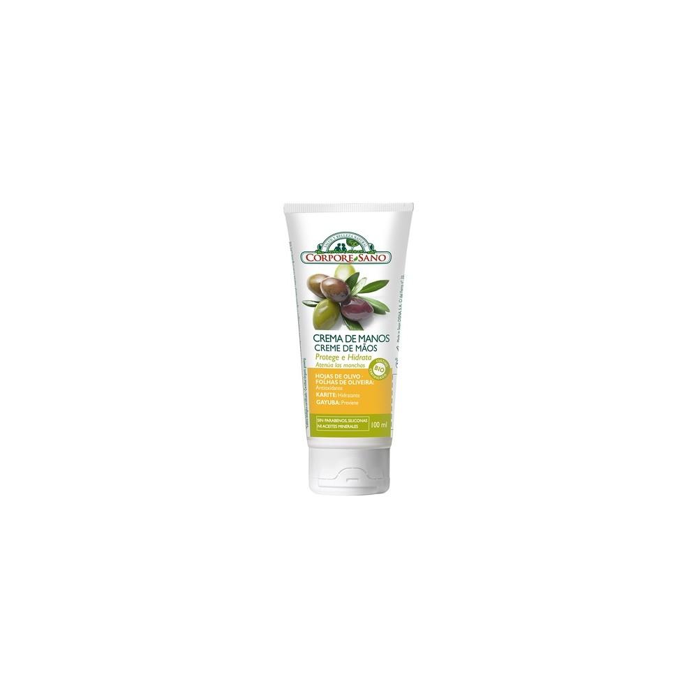 Crema de manos Olivo y Karité 100 ml. - Corpore Sano - tienda vegana online