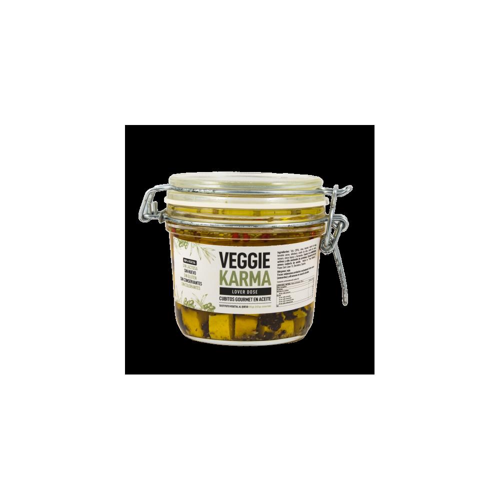 Queso vegano en aceite de oliva de Veggie Karma- tienda vegana online