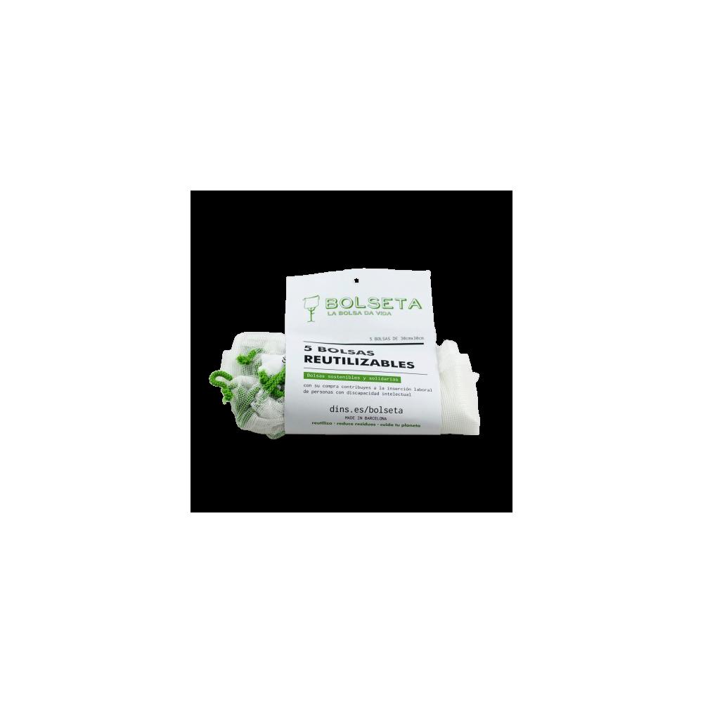 Bolsas Reutilizables 30x30 - Bolseta - tienda vegana online