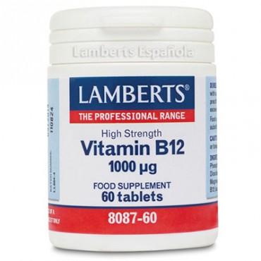 Vitamina B12 1000 mcg como Metilcobalamina - Lamberts
