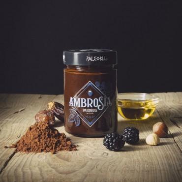Crema de Cacao y Avellanas con Mora - Ambrosía - tienda vegana online