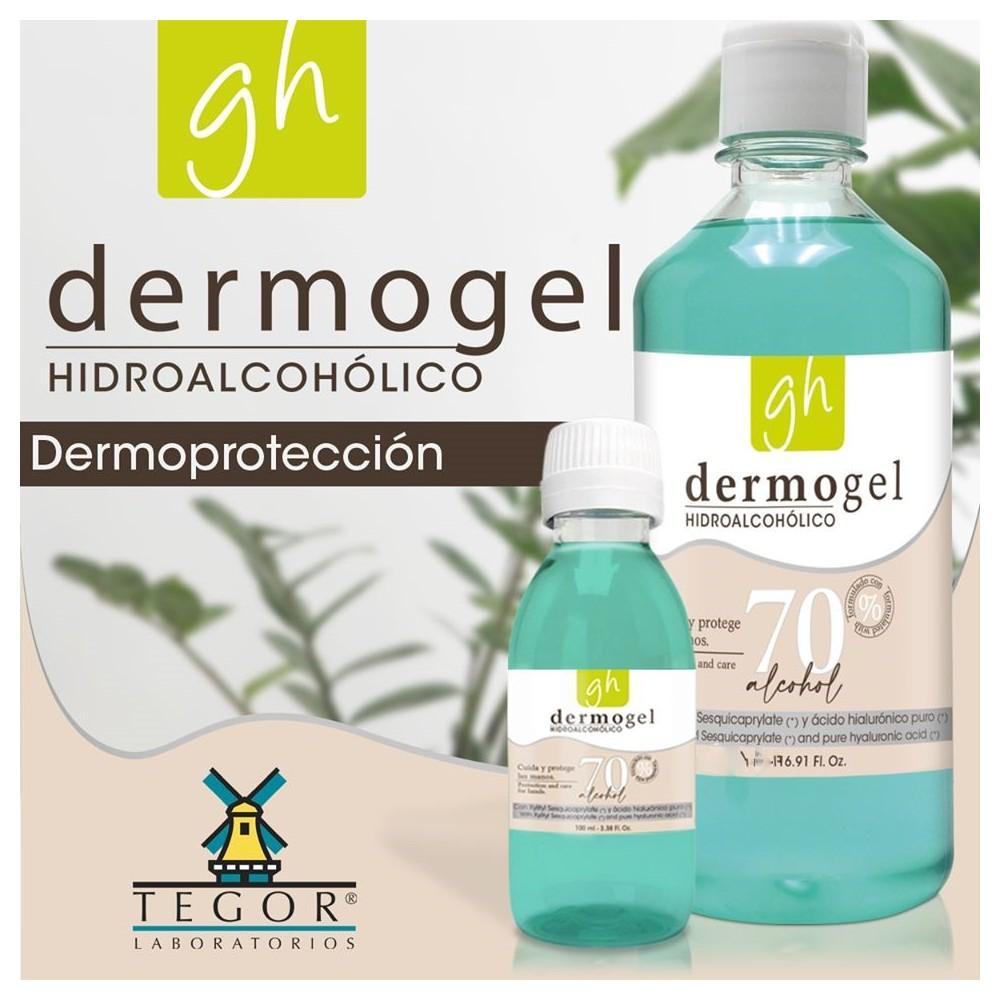 Dermogel Hidroalcohólico 1 litro - Laboratorios Tegor - tienda vegana online