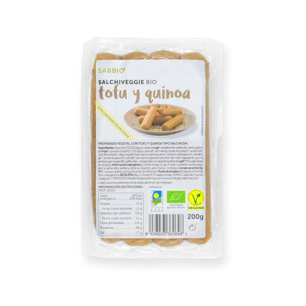 Bio Salchichas de Tofu y Quinoa - sabbio - tienda vegana online