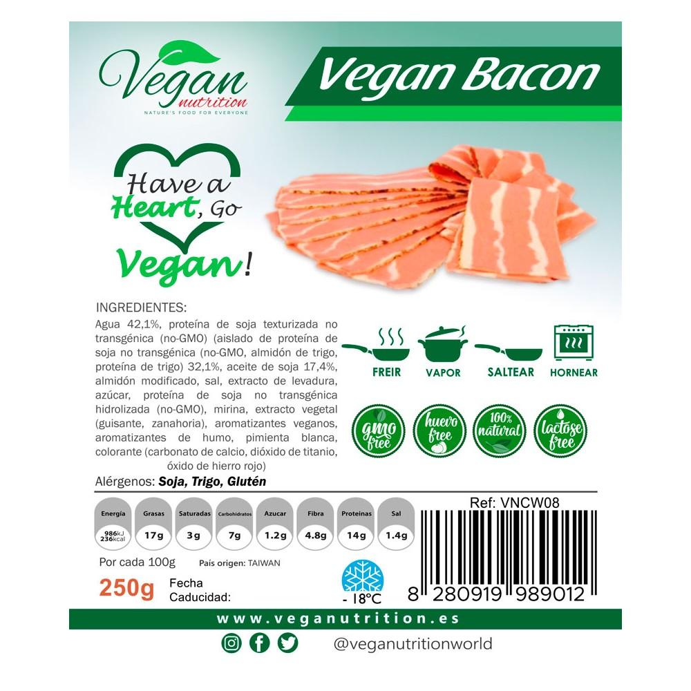 Bacon Vegano en lonchas - Vegan Nutrition - tienda vegana online