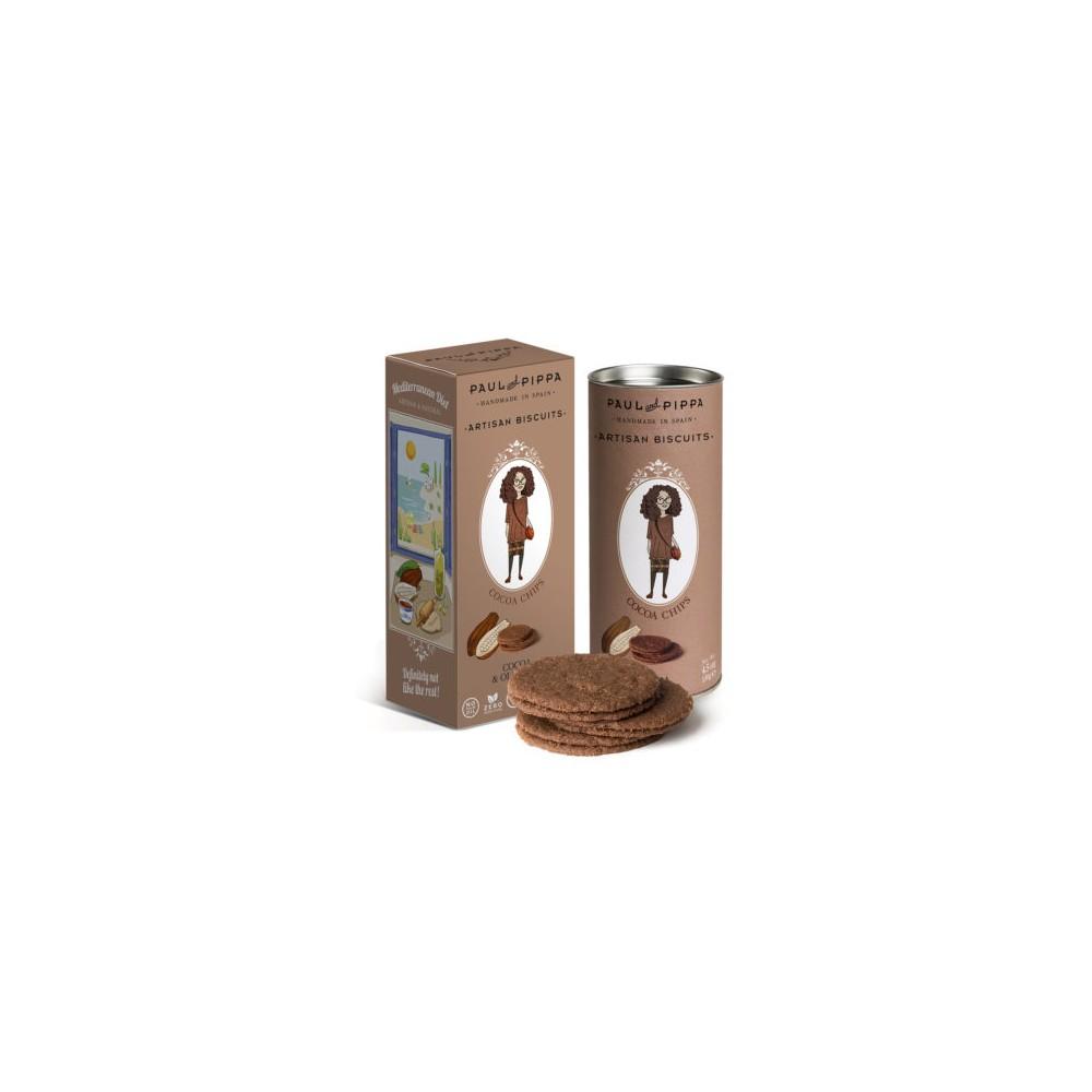 Galletas de Cacao y Escamas de Sal - Paul & Pippa - tienda vegana online
