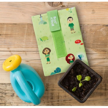 Porta bocadillos square kids forest - by Roll'eat - tienda vegana online
