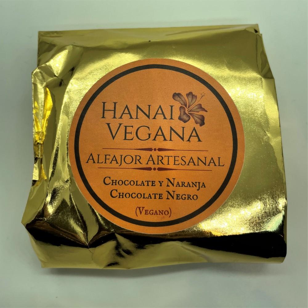 Alfajor de Chocolate Negro y Naranja - Hanai Vegana - tienda vegana online