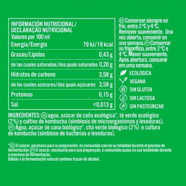 Kombucha Té Verde - KomVida - tienda vegana online