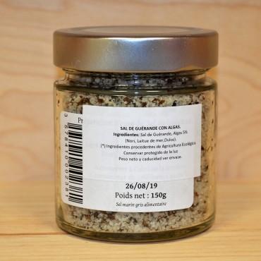 Sal de Guérande con Algas 150 g. - tienda vegana online